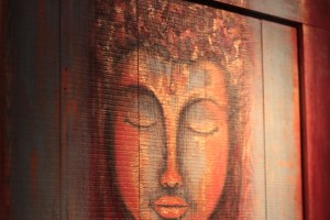 Custom Painted doors at The Yoga Studio in Indianapolis
