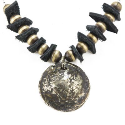 Helmet and leather necklace 2