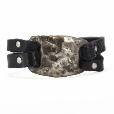 Silver Tile Bracelet (Mens)