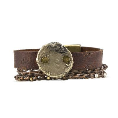 Silver Coin Busygirl Bracelet