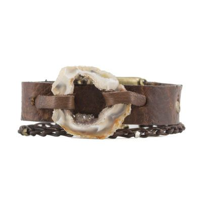 agate slice busygirl bracelet