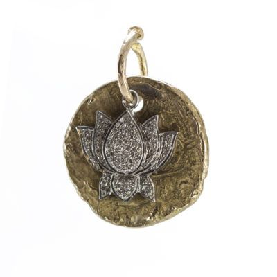 diamond-lotus-bronze-coin-pendant
