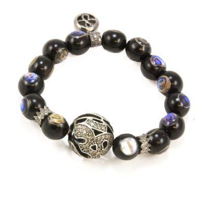 abalone-and-diamond-om-beaded-bracelet