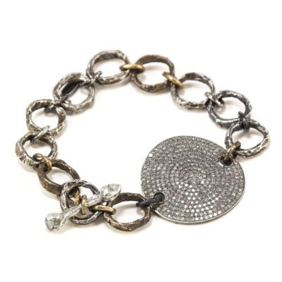diamond-disc-and-chain-bracelet