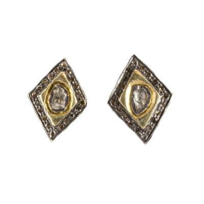 rosecut-diamond-earrings