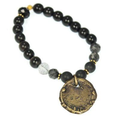 bronze-coin-beaded-bracelet-2