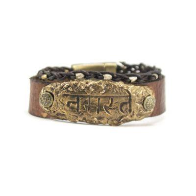 bronze-namaste-sanskrit-bracelet