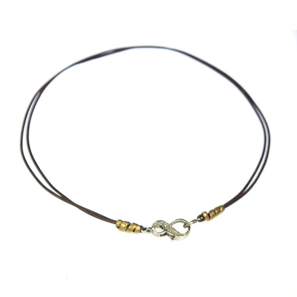 leather cord busygirl necklace niyama jewelry by