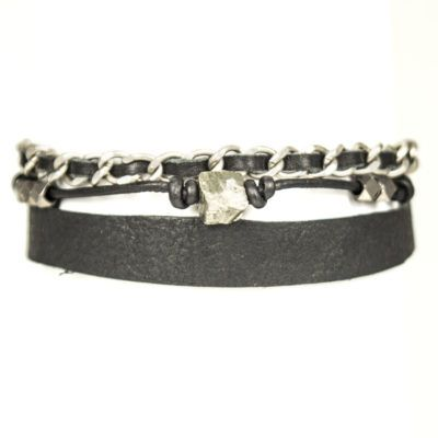 pyrite-and-chain-mens-bracelet