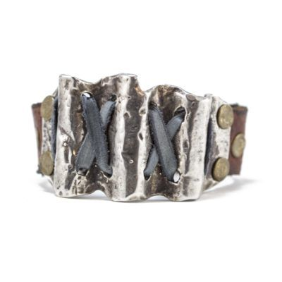 silver-wave-brown-leather-bracelet-3