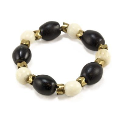 black-and-white-african-bead-bracelet