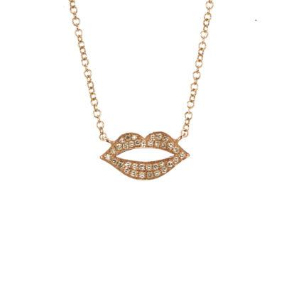 rosegold-dia-dainty-lips-necklace-kiss
