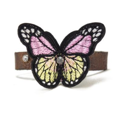 Pink and Yellow Butterfly Bracelet