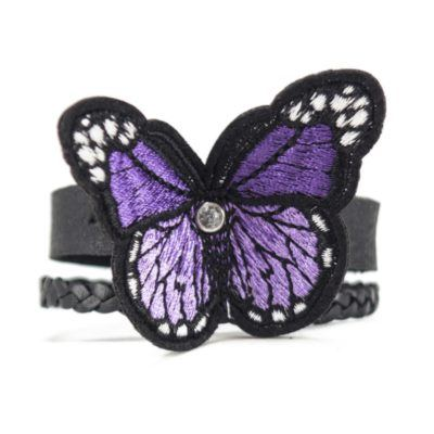 Purple butterfly bracelet 1