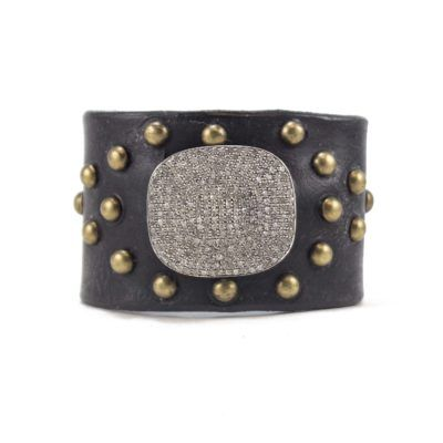 diamond disc dome stud cuff 2