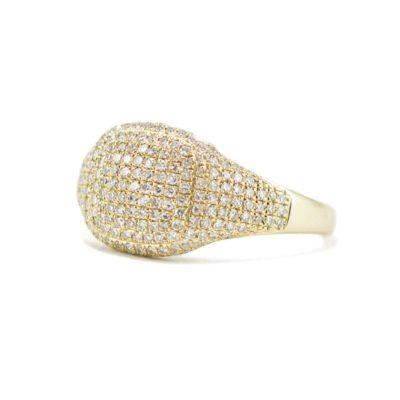 pave diamond gold ring