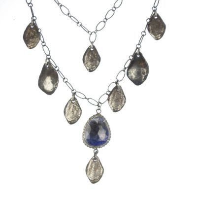 adj sapphire and teardrop necklace