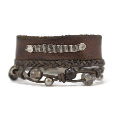 knotted leather busygirl bracelet 4