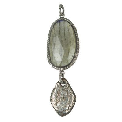 labradorite and teardrop pendant 2